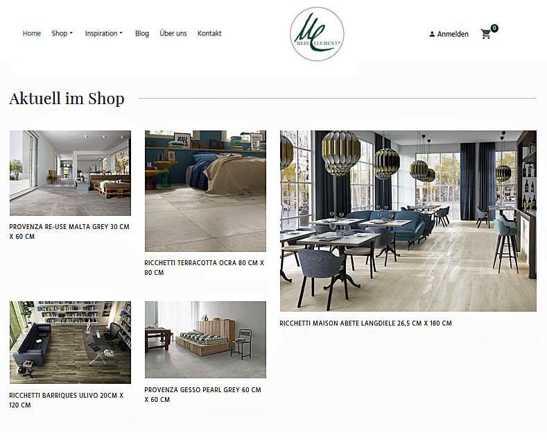 Mein Element® - Online Shop für gesundes und stilvolles Wohnen mit Fliesen.